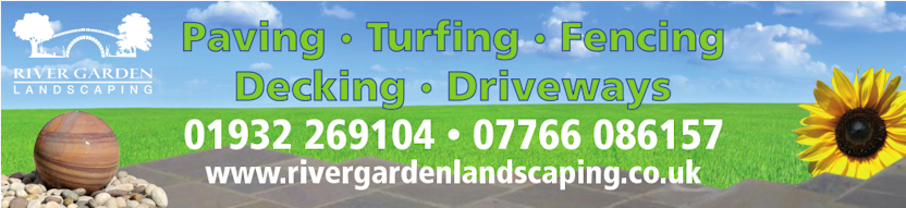 river garden landscaping in Surrey